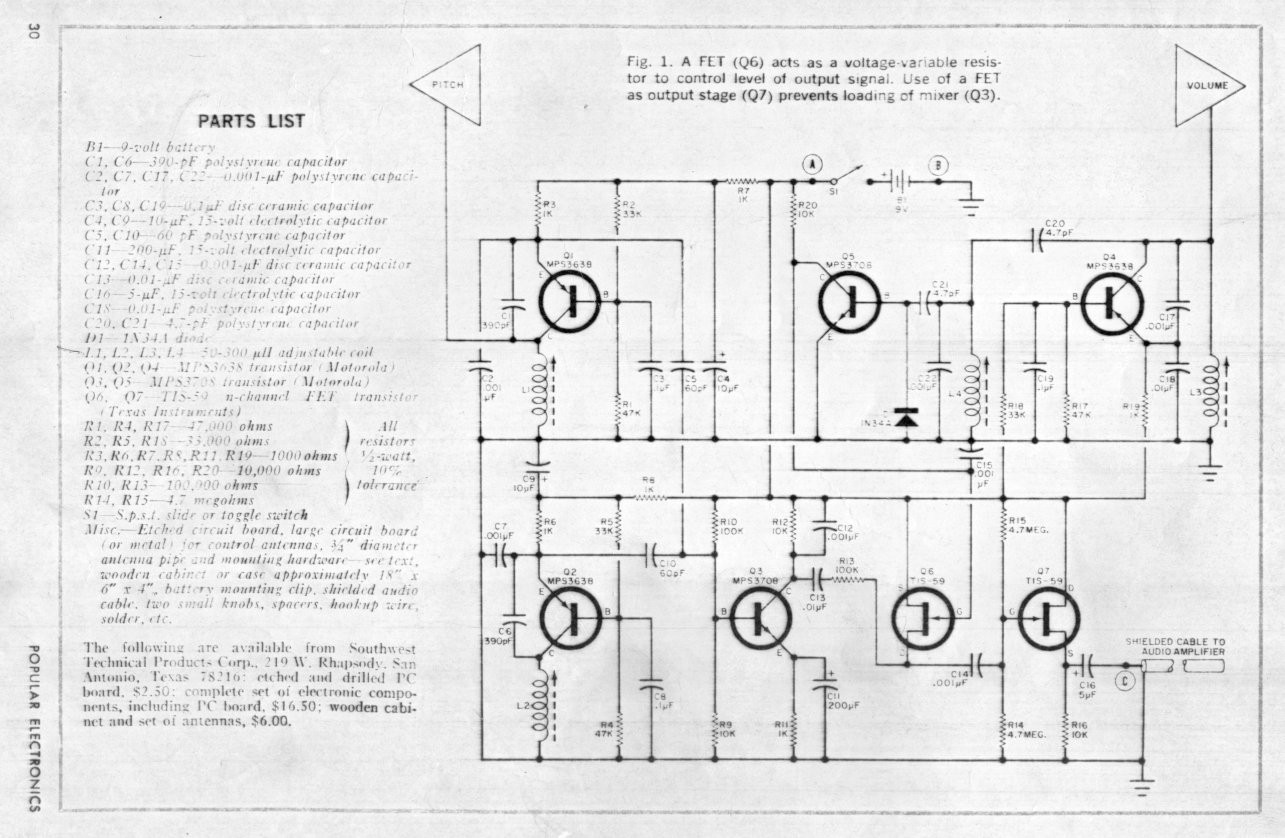 The Electronic Peasants Various Schematics Articles And Data Sound Effects Generator 2 Circuit Diagrams Page 1